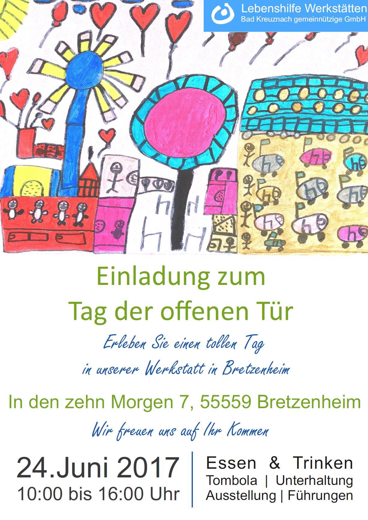 Plakat Einladung zum Lebenshilfe Tag der offenen Tür